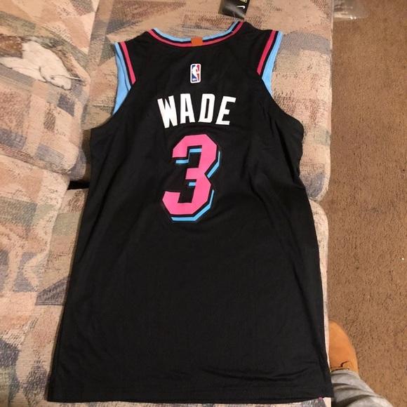 pretty nice 0f2dc 789ab Nike NBA Miami Heat city jersey Dwyane Wade size S NWT